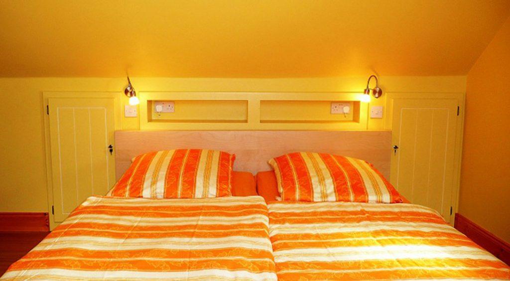Ferienhaus, Kerry, Irland, A Grá mo Croí Schlafzimmer 3 mit Meerblick, Obergeschoss, Ferienhäuser mit Meerblick mieten in Irland - Cottages mit Seeblick mieten entlang des Ring of Kerry in Irland