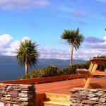 Ferienhaus, Kerry, Irland, A Grá mo Croí, Rückwärtige Terrasse mit Meerblick, Ferienhäuser mit Meerblick mieten in Irland - Cottages mit Seeblick mieten entlang des Ring of Kerry in Irland