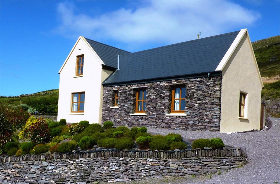 Ferienhaus, Kerry, Irland, Ard na Gaoithe, AnsichtFerienhäuser mit Meerblick mieten in Irland - Cottages mit Seeblick mieten entlang des Ring of Kerry in Irland