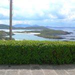 Ferienhaus, Kerry, Irland, Batts Cottage, Schlafzimmer mit Doppelbett und Meerblick. Ferienhäuser mit Meerblick mieten in Irland - Cottages mit Seeblick mieten entlang des Ring of Kerry in Irland