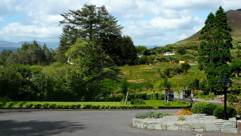 Ferienhaus, Kerry, Irland, Dellwood Lodge, Garten, Ferienhäuser mit Meerblick mieten in Irland - Cottages mit Seeblick mieten entlang des Ring of Kerry in Irland