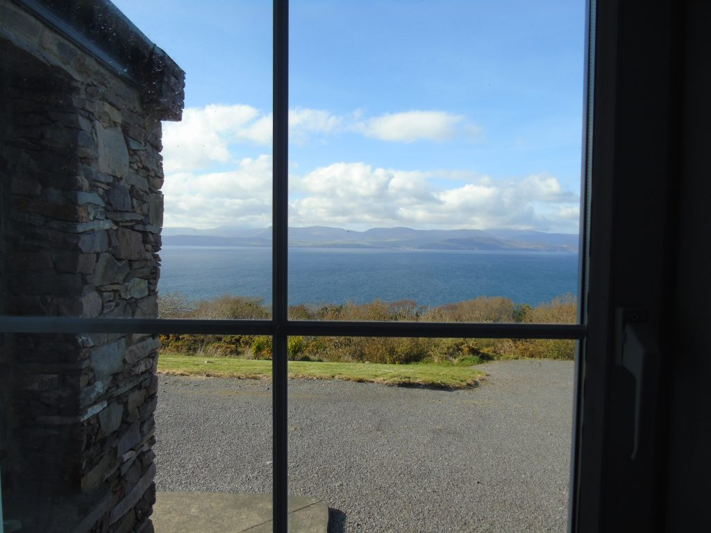 Even the Hall in Holiday Cottage Heather Cottage has a Sea View.