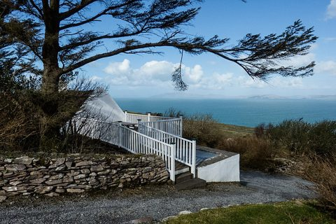 Roads Cottage 01, Side Elevation, Rent an Irish Cottage with Sea View along the Wild Atlantic Way in Kerry