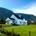 St. Ann's, House from below. Rent an Irish Holiday Home with Sea View along the Wild Atlantic Way in Kerry, Rent a Cottage with Seaview in Ireland along the Ring of Kerry.