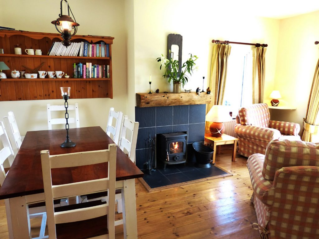 Holiday Home, Kerry, Ireland, Derrynane Haven 04, Living Room with Sea View, Pict. 2, Rent an Irish Cottage with Sea View along the Wild Atlantic Way in Kerry