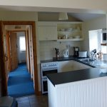 Holiday Home, Kerry, Ireland, Derrynane Haven 07, Kitchen with Passage to the other Rooms, Rent an Irish Cottage with Sea View along the Wild Atlantic Way in Kerry