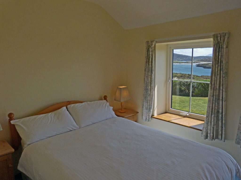 Holiday Home, Kerry, Ireland, Derrynane Haven 13, Bedroom with Sea View 2, Rent an Irish Cottage with Sea View along the Wild Atlantic Way in Kerry