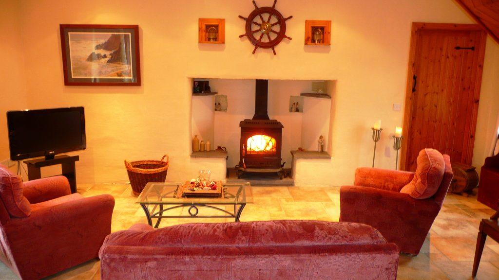 Ferienhaus, Kerry, Irland, Patricks, Wohnzimmer Bild 3, Ferienhäuser mit Meerblick mieten in Irland - Cottages mit Seeblick mieten entlang des Ring of Kerry in Irland