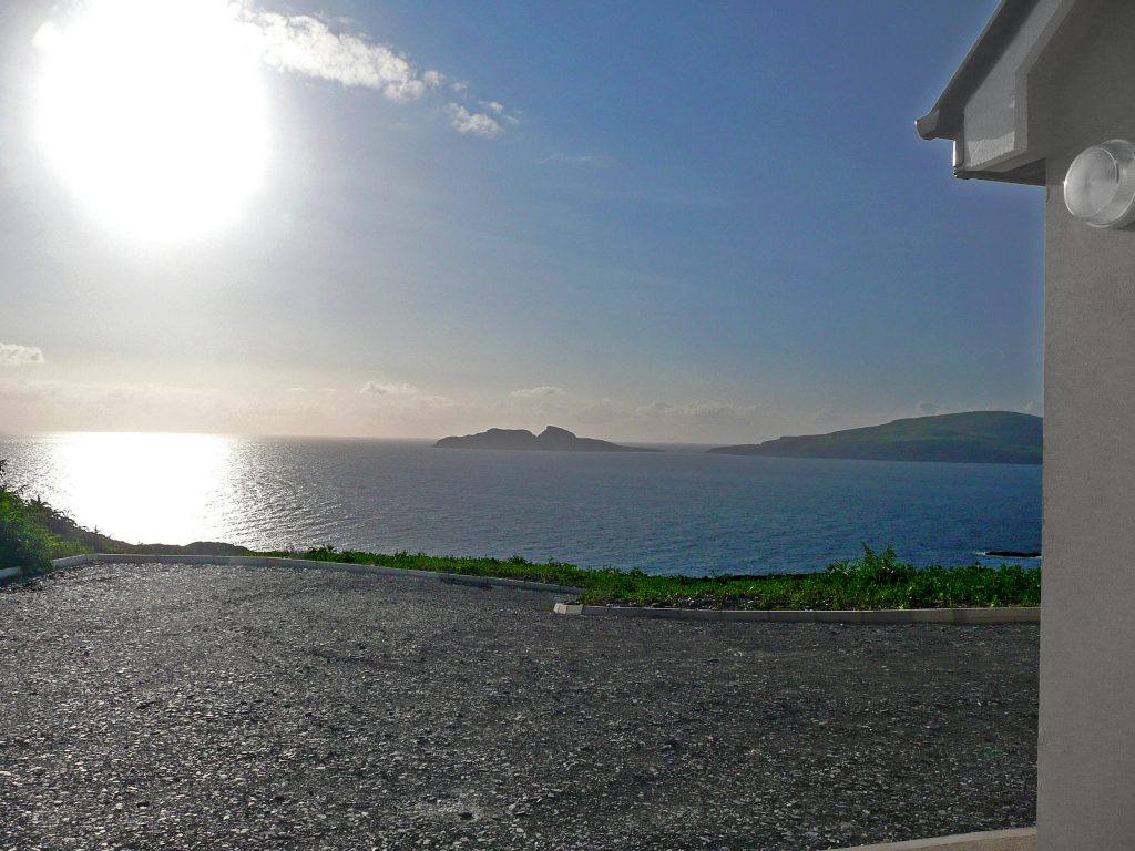 Ferienhaus, Kerry, Irland, Skelligs House 05, Aussicht, Ferienhäuser mit Meerblick mieten in Irland - Cottages mit Seeblick mieten entlang des Ring of Kerry in Irland