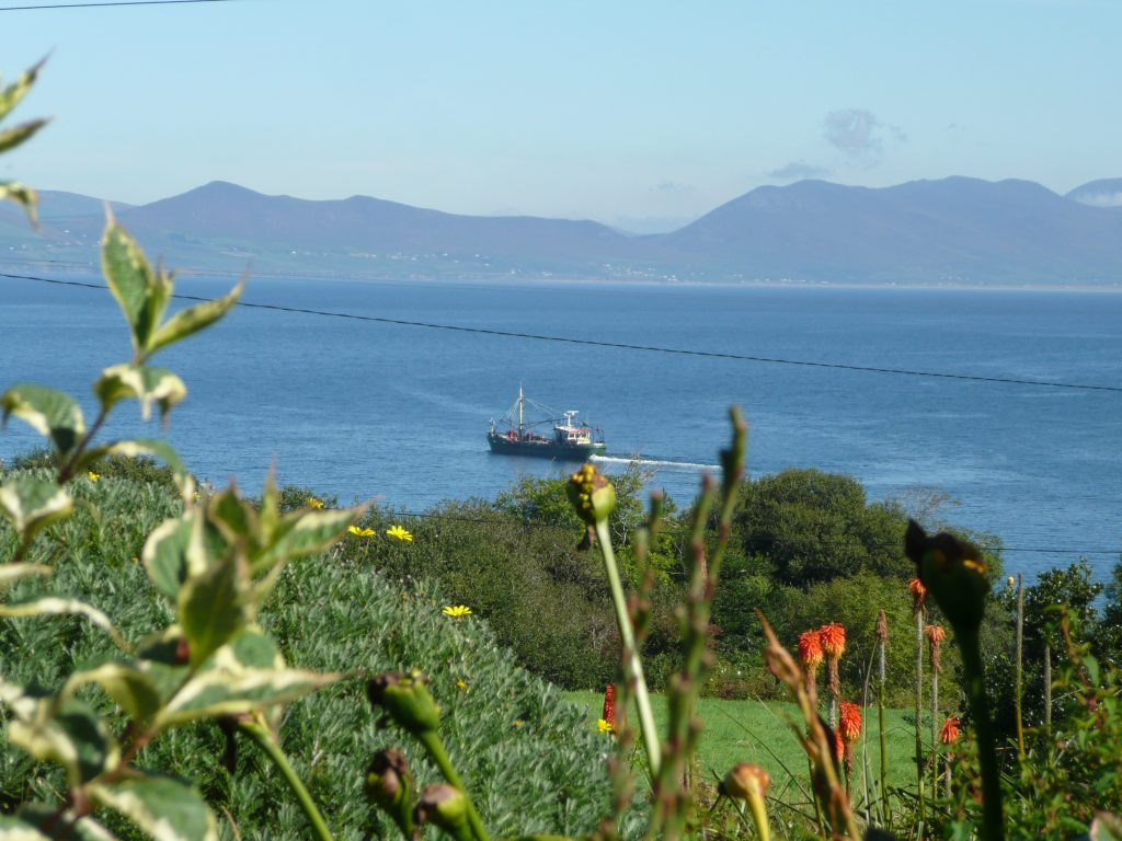 Ferienhäuser mit Meerblick mieten in Irland - Cottages mit Seeblick mieten entlang des Ring of Kerry in Irland, Ferienhaus, Kerry, Irland, Taobh na Greine 6.1, Aussicht