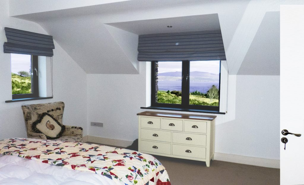 Holiday Home, Kerry, Ireland, Michaels 09, Bedroom 1, Pict. 2, Rent an Irish Cottage with Sea View along the Wild Atlantic Way in Kerry