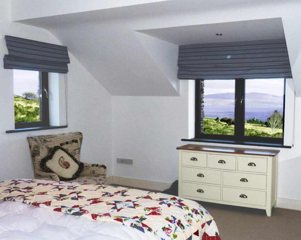 Holiday Home, Kerry, Ireland, Michaels 09, Bedroom 1, Pict. 3, Rent an Irish Cottage with Sea View along the Wild Atlantic Way in Kerry