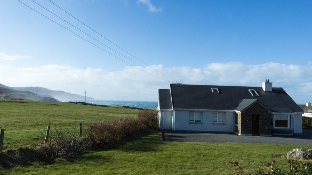 Ferienhaus mit Meerblick, Kerry, Irland, Tig na Cille 1, Haus von außen