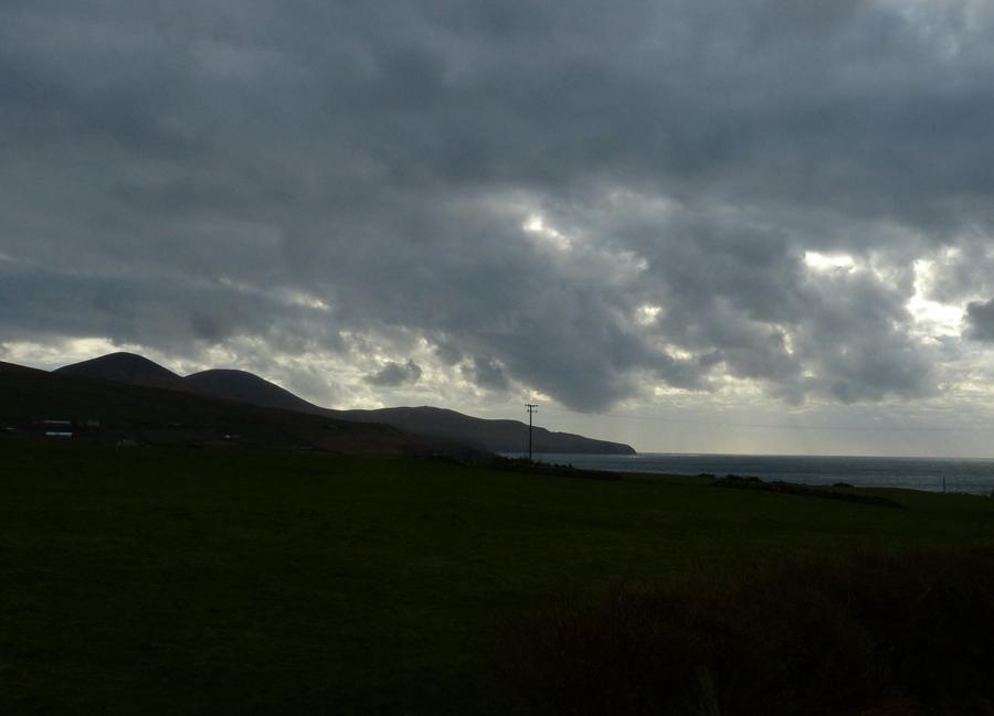 Ferienhäuser mit Meerblick mieten in Irland - Cottages mit Seeblick mieten entlang des Ring of Kerry in Irland, Ferienhaus, Kerry, Irland, Tig na Cille 3.1 Aussicht von der Terrasse aus