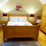 Schlafzimmer sieben auf der ersten Etage von Ferienhaus Castle View in Glenbeigh in Kerry, Irland.